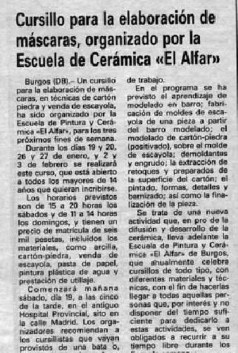 CURSO DE ELABÓRACIÓN DE MASCARAS
