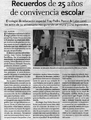 25 AÑOS DE CONVIVENCIA ESCOLAR