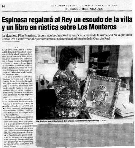 REGALO DE ESPINOSA DE LOS MONTEROS AL REY