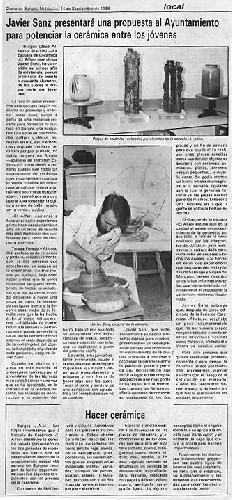 PROPUESTA AL AYUNTAMIENTO Javier Sanz presentará una propuesta al Ayuntamiento para potenciar la cerámica  art-terra, s.l.