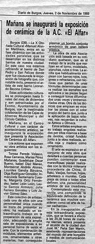 INAUGURACIÓN DE UNA EXPOSICIÓN DE A.C. EN EL ALFAR
