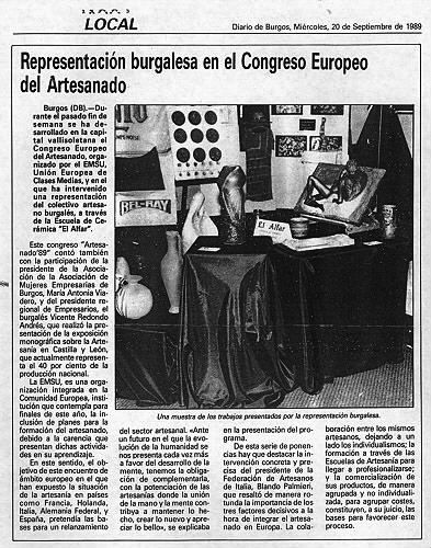 CONGRESO EUROPEO DEL ARTESANADO