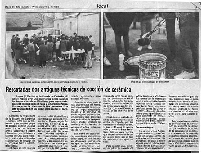 RESCATADAS DOS ANTIGUAS TÉCNICAS Rescadas dos antiguas técnicas de cocción de cerámica